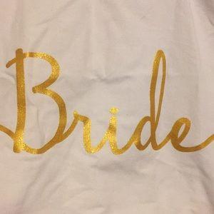 Handbags - Bride white beach bag or tote